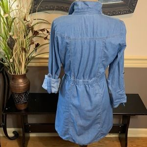 Allison Brittney Tops - Allison Brittney Women's Denim Tunic Top Medium